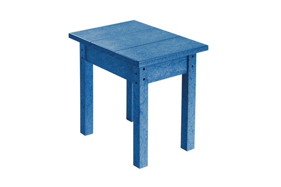 18″ X 13″ SMALL SIDE TABLE BLUE