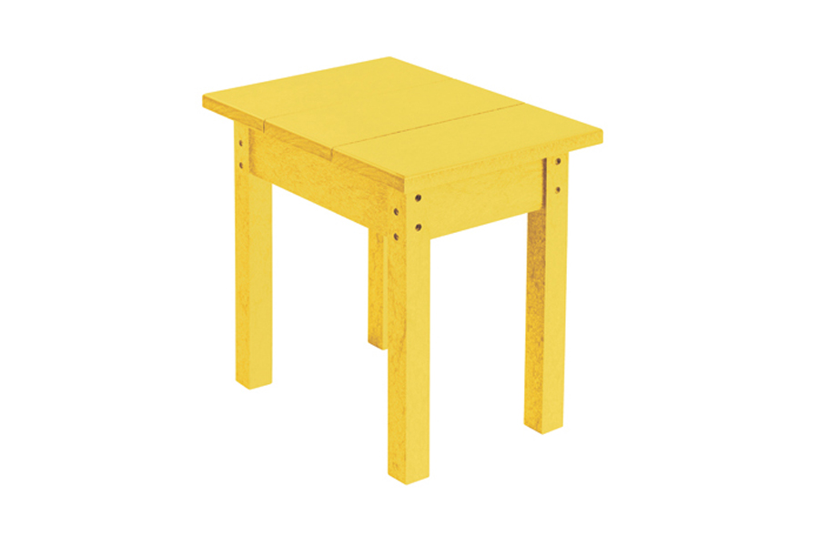 18″ X 13″ SMALL SIDE TABLE YELLOW