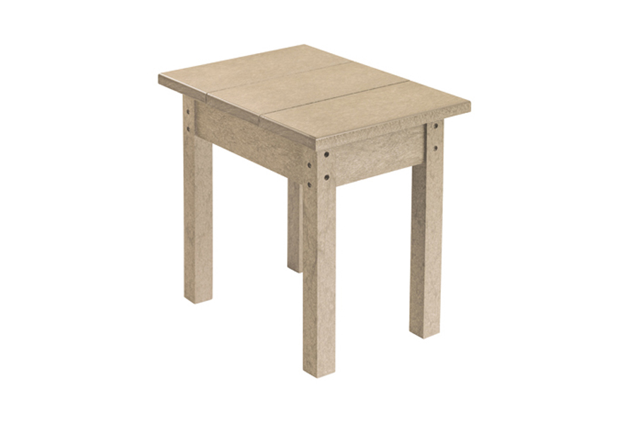 18″ X 13″ SMALL SIDE TABLE BEIGE