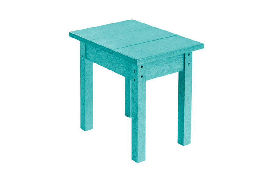 18″ X 13″ SMALL SIDE TABLE TURQUOISE
