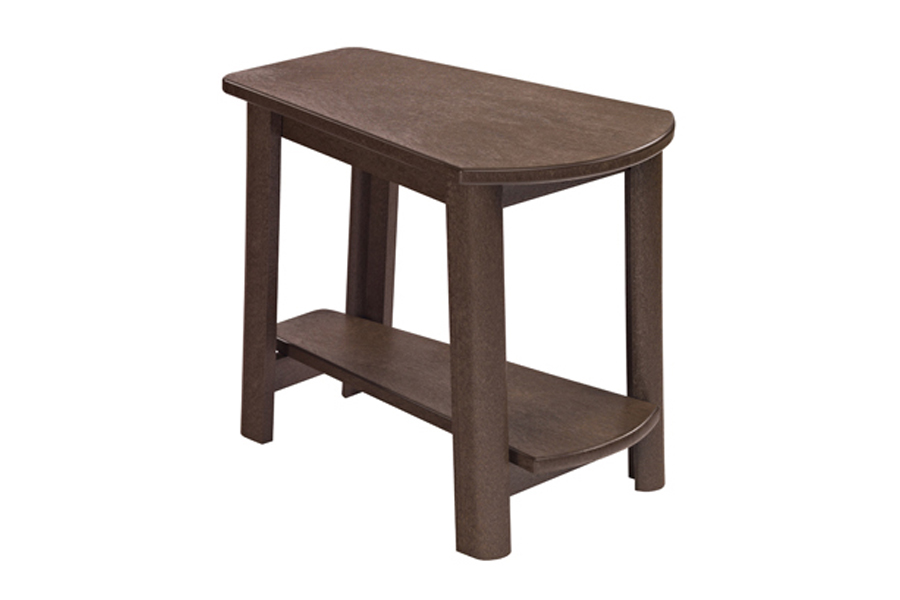 25″ X 17″ ADDY SIDE TABLE CHOCOLATE