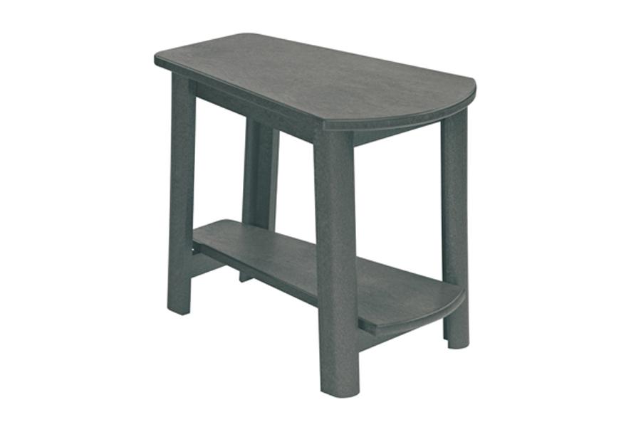 25″ X 17″ ADDY SIDE TABLE SLATE GREY