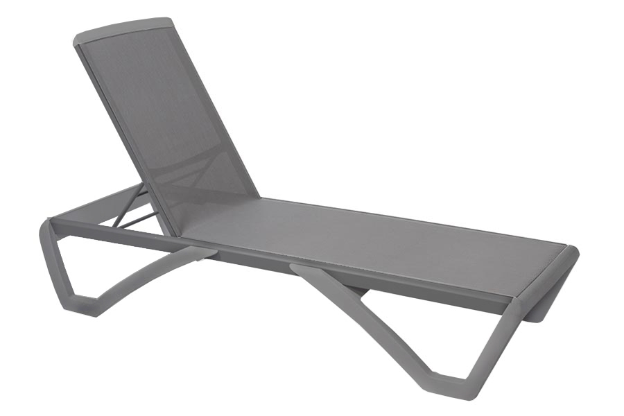 Anthracite/Grey Chaise Lounge